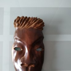 Arte: MÁSCARA AFRICANA MADERA MACIZA ANTIGUA. Lote 214716496