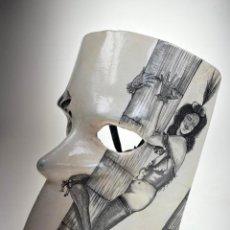 Arte: MÁSCARA VENECIANA DE CARNAVAL CON DIBUJO ERÓTICO PINTADA A MANO - ÚNICA. Lote 214845802