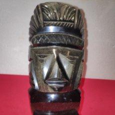 Arte: GRAN TOTEM AZTECA EN OBSIDIANA MEXICANA. Lote 215154878