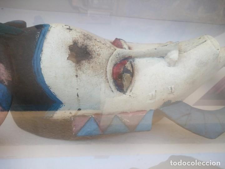 Arte: Extraordinario y antiguo cuadro máscara fang de jefe de tribu en 3d en el interior del cuadro. - Foto 8 - 215838852