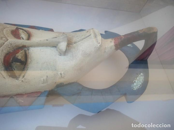 Arte: Extraordinario y antiguo cuadro máscara fang de jefe de tribu en 3d en el interior del cuadro. - Foto 9 - 215838852