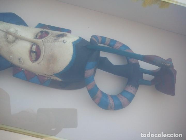 Arte: Extraordinario y antiguo cuadro máscara fang de jefe de tribu en 3d en el interior del cuadro. - Foto 11 - 215838852
