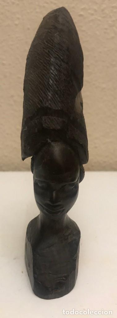 Arte: busto áfrica mujer ebony - Foto 3 - 216361035