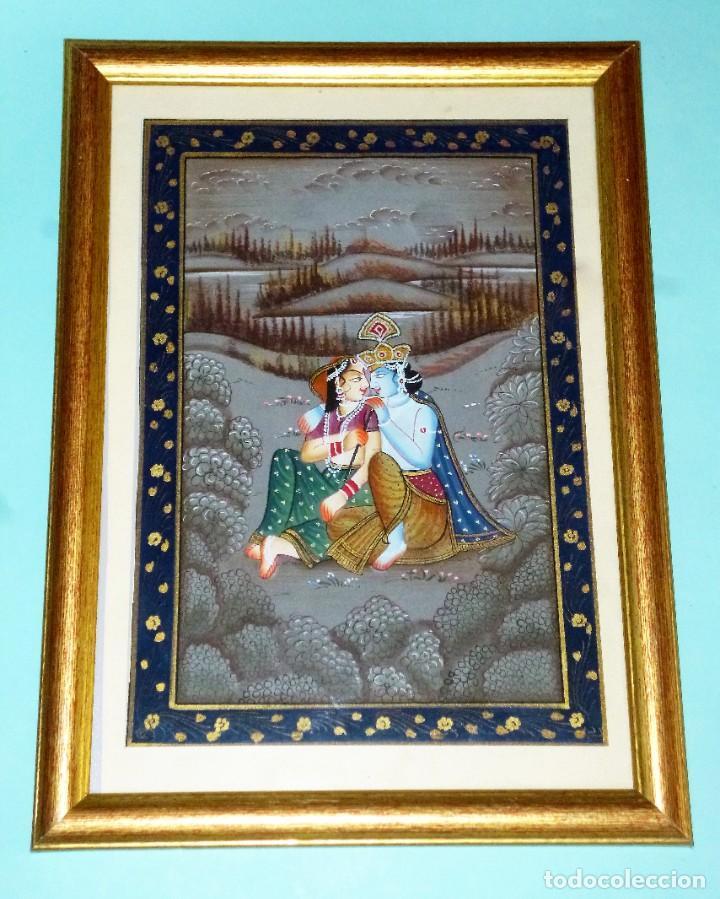 PINTURA ORIENTAL SOBRE TELA (Arte - Étnico - Asia)