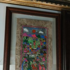 Arte: PINTURA SOBRE COCO ARTE ÉTNICO MEJICANO. Lote 216963995