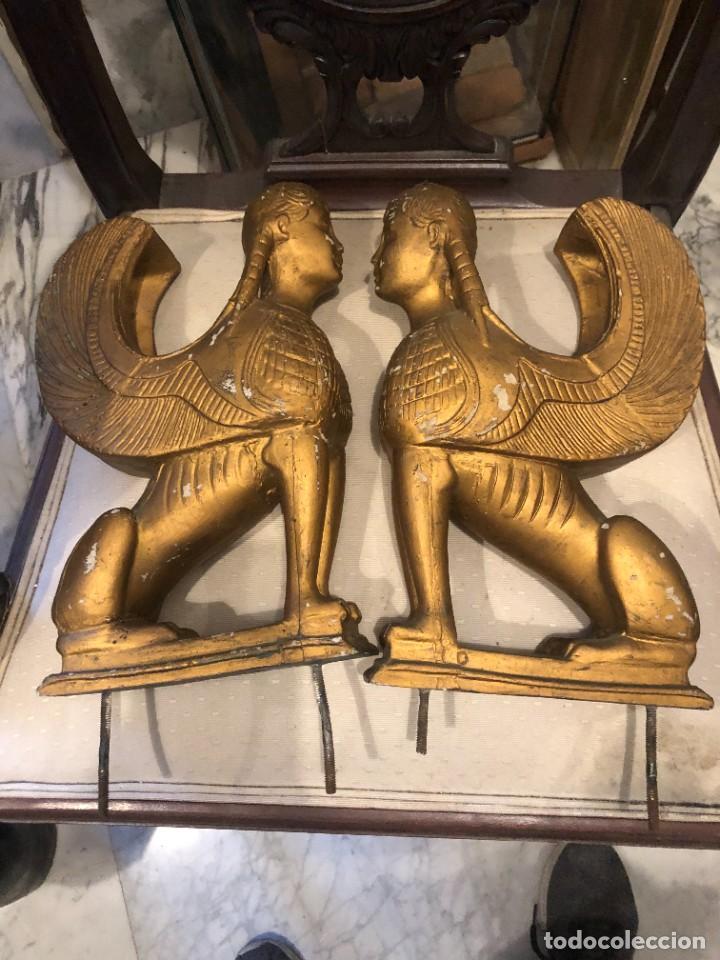 3 FIGURAS ALADAS EGIPCIAS (Arte - Étnico - África)