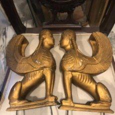 Arte: 3 FIGURAS ALADAS EGIPCIAS. Lote 218677422