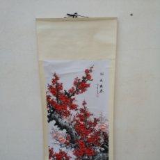 Arte: OBRA DE ARTE CHINO PINTURA TRADICIONAL CHINA ANTIGUA SOBRE PAPEL Y SEDA KAKEMONO FIRMADO. Lote 218821786