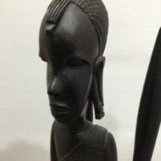 Arte: ESCULTURA AFRICANA. MADERA. SIGLO XIX. AÑOS 20. PARTICULAR. FRANCIA. BELGICA. GRAN CALIDAD.FOTOS. Lote 219245442