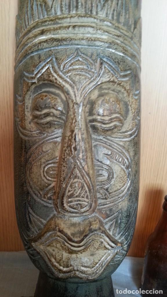 Arte: Máscara de madera tallada. Preciosa. - Foto 2 - 219276358