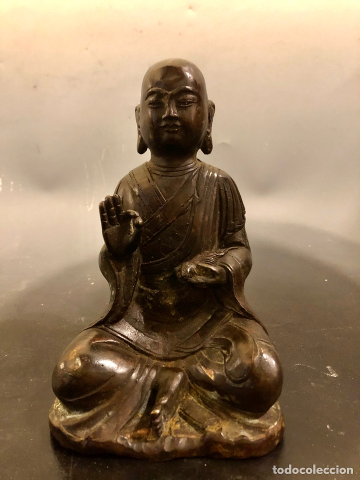 Arte: Buda con rata, siglo XVII BRONCE - Foto 2 - 219441015