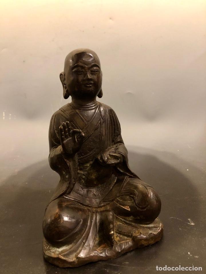 Arte: Buda con rata, siglo XVII BRONCE - Foto 3 - 219441015
