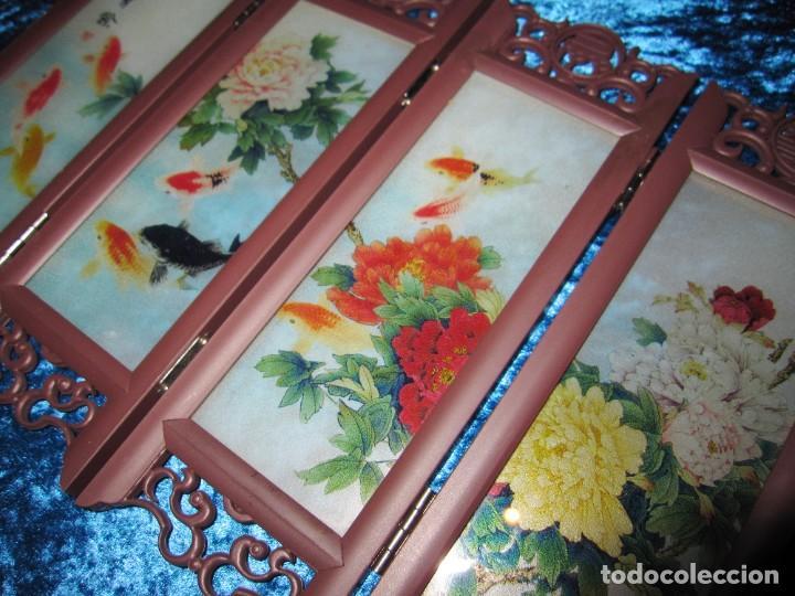 Arte: Biombo chino oriental miniatura vidrio cristal - Foto 2 - 219908487