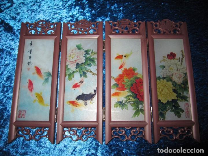 Arte: Biombo chino oriental miniatura vidrio cristal - Foto 4 - 219908487