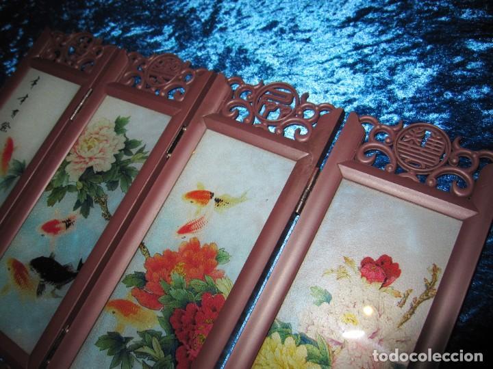 Arte: Biombo chino oriental miniatura vidrio cristal - Foto 5 - 219908487