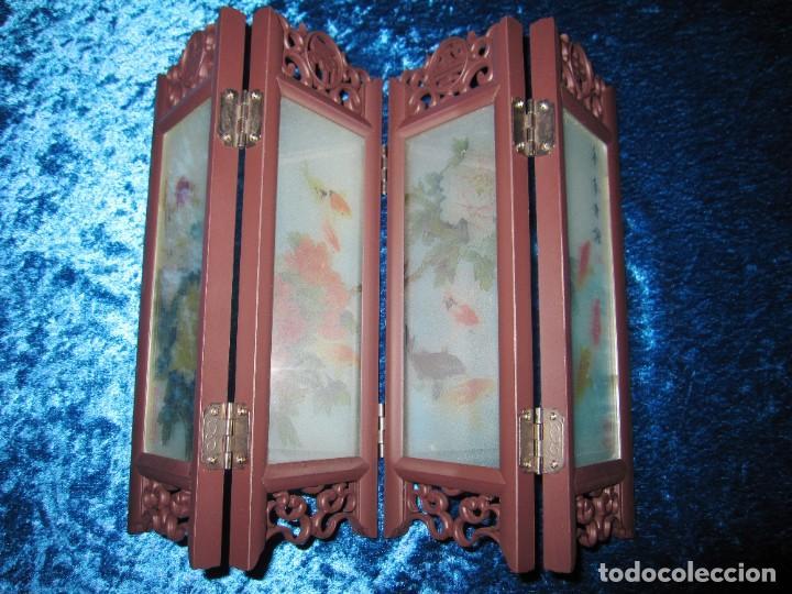 Arte: Biombo chino oriental miniatura vidrio cristal - Foto 7 - 219908487