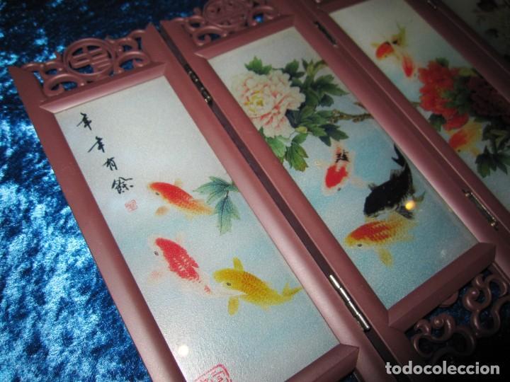 Arte: Biombo chino oriental miniatura vidrio cristal - Foto 9 - 219908487