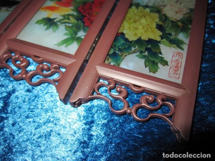 Arte: Biombo chino oriental miniatura vidrio cristal - Foto 10 - 219908487