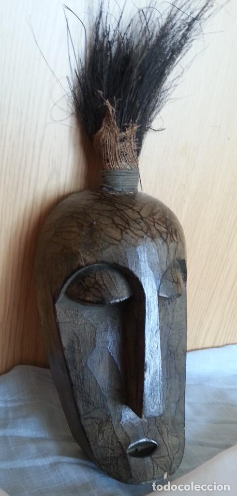 MÁSCARA PAPUA, NUEVA GUINEA, DE MADERA TALLADA. PRECIOSA. (Arte - Étnico - Oceanía)