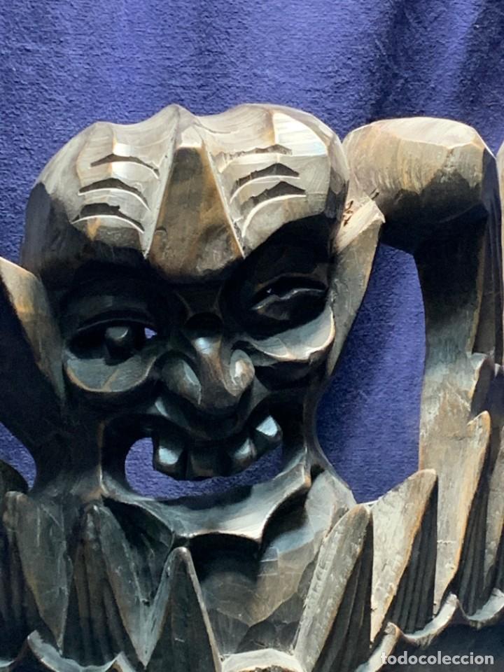 Arte: gran mascara china de madera tallada guizhou beijing 65x32x18cms - Foto 2 - 220522300