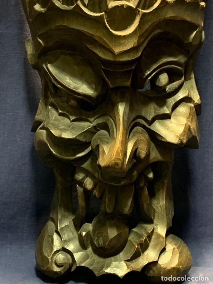 Arte: gran mascara china de madera tallada guizhou beijing 65x32x18cms - Foto 3 - 220522300
