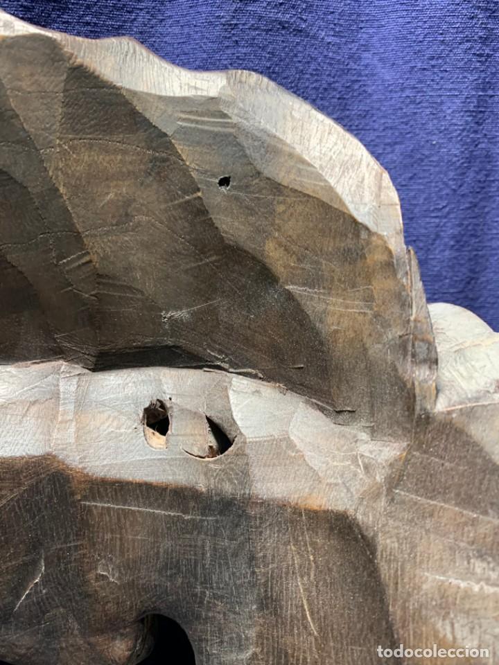 Arte: gran mascara china de madera tallada guizhou beijing 65x32x18cms - Foto 8 - 220522300