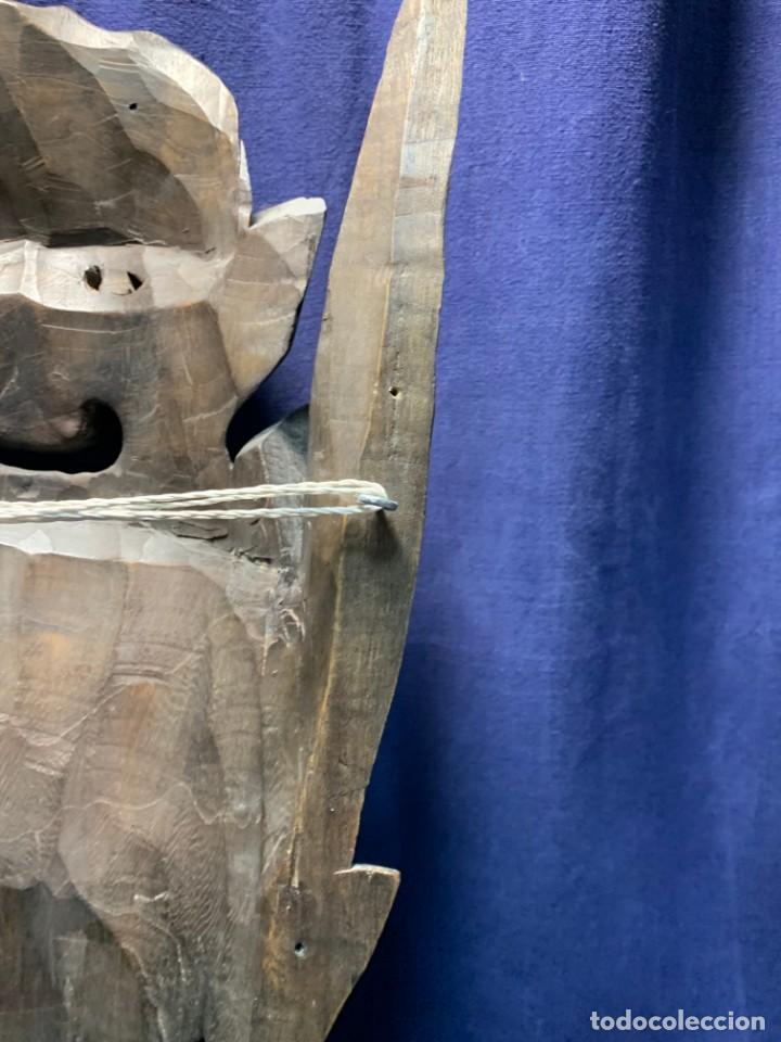Arte: gran mascara china de madera tallada guizhou beijing 65x32x18cms - Foto 9 - 220522300