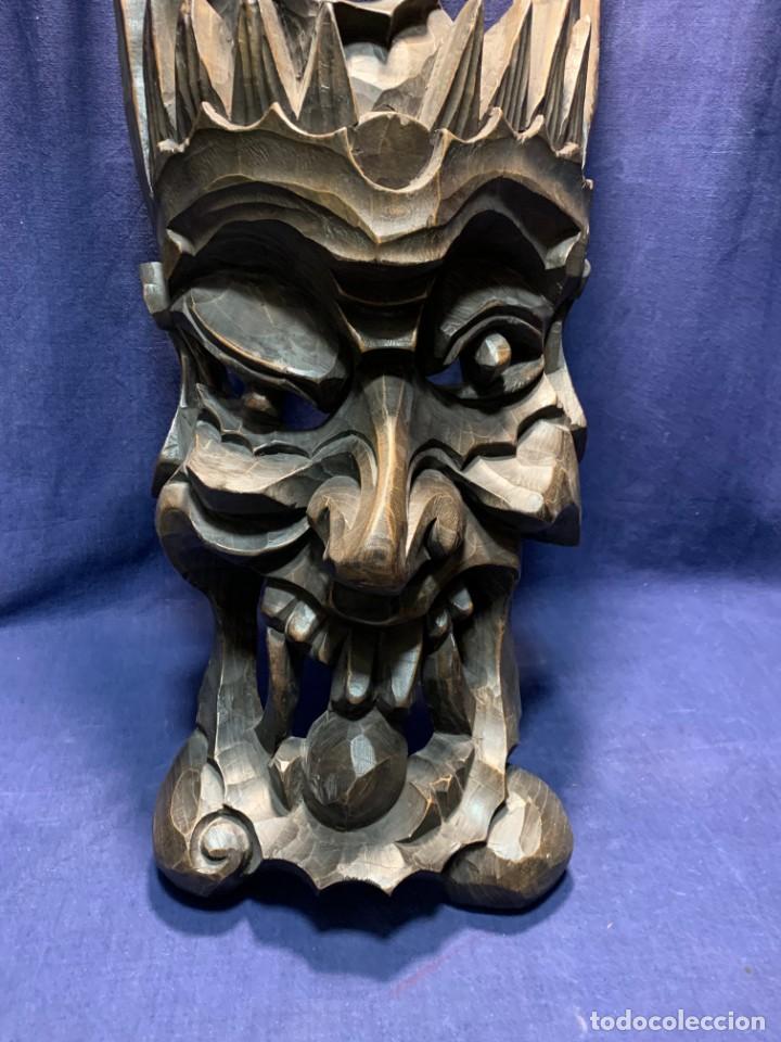 Arte: gran mascara china de madera tallada guizhou beijing 65x32x18cms - Foto 16 - 220522300