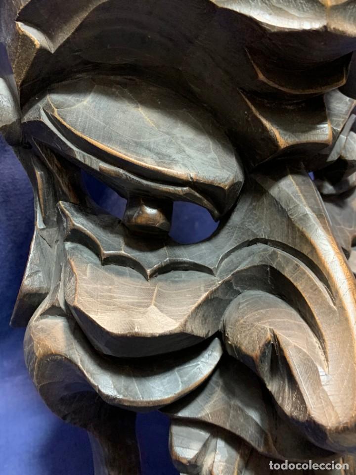 Arte: gran mascara china de madera tallada guizhou beijing 65x32x18cms - Foto 17 - 220522300