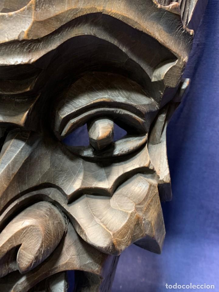 Arte: gran mascara china de madera tallada guizhou beijing 65x32x18cms - Foto 18 - 220522300