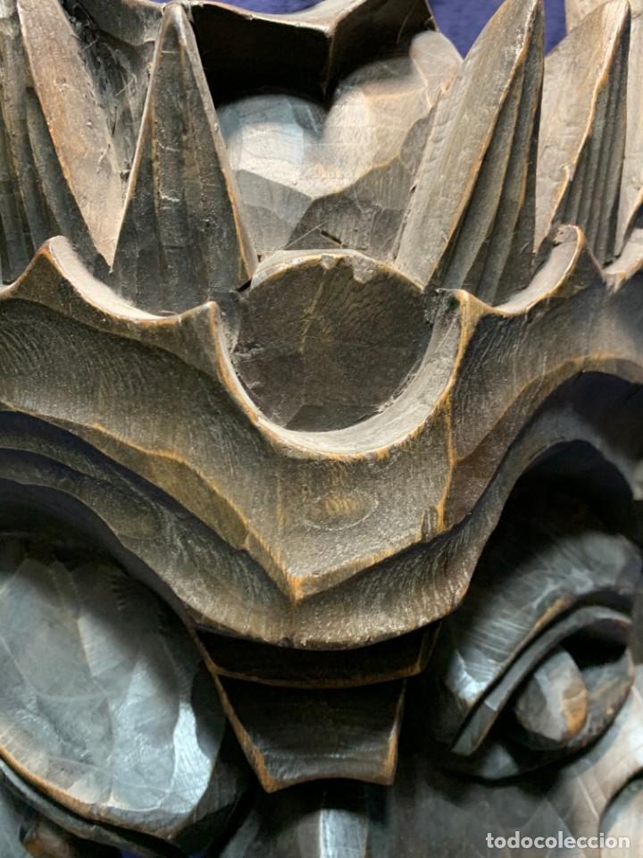 Arte: gran mascara china de madera tallada guizhou beijing 65x32x18cms - Foto 21 - 220522300