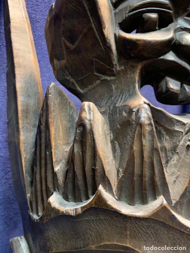 Arte: gran mascara china de madera tallada guizhou beijing 65x32x18cms - Foto 22 - 220522300