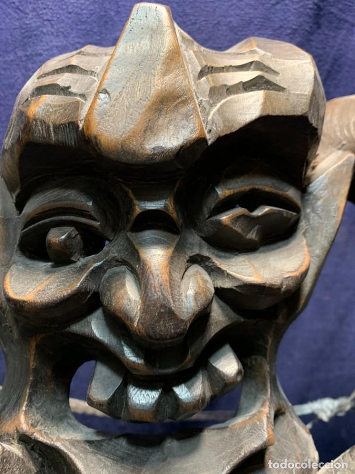 Arte: gran mascara china de madera tallada guizhou beijing 65x32x18cms - Foto 23 - 220522300