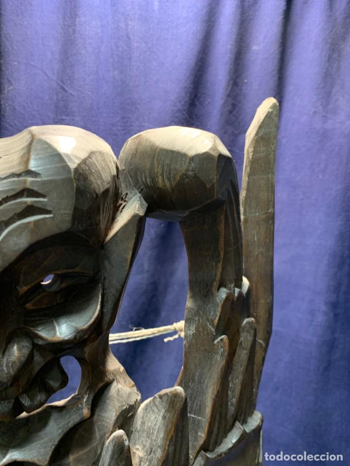 Arte: gran mascara china de madera tallada guizhou beijing 65x32x18cms - Foto 24 - 220522300