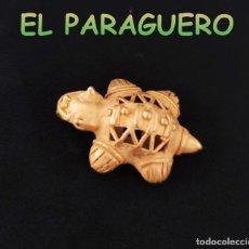 Art: VALE PARA COLGANTE TORTUGA ANTROPOMORFO PRECOLOMBINA QUIMBAYA DE ORO TUMBAGA PESO 14 GRAMOS -T1. Lote 220696191