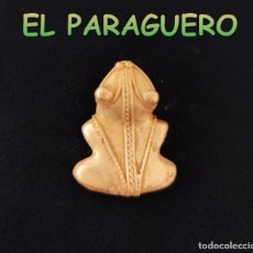 Art: VALE PARA COLGANTE COLGANTE RARA RANA PRECOLOMBINA QUIMBAYA DE ORO TUMBAGA PESO 11 GRAMOS-T6. Lote 220697658