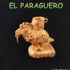 Art: VALE PARA COLGANTE RARA FIGURA PAJARO SINU PRECOLOMBINO QUIMBAYA DE ORO TUMBAGA PESO 69 GRAMOS-T10. Lote 220699355