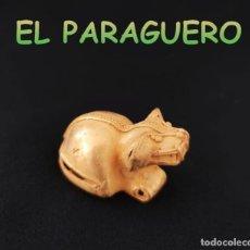 Art: VALE PARA COLGANTE FIGURA SONAJEROZOOMORFICO PRECOLOMBINO QUIMBAYA DE ORO TUMBAGA PESO 25 GRAMOS-T13. Lote 220699996