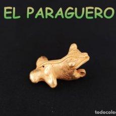 Art: VALE PARA COLGANTE FIGURA DE RARA RANA PRECOLOMBINA QUIMBAYA DE ORO TUMBAGA PESO 16 GRAMOS-T18. Lote 220701956