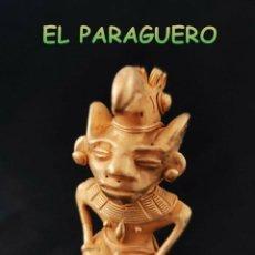Art: VALE PARA COLGANTE FIGURA HUMANOIDE AVE PRECOLOMBINO QUIMBAYA DE ORO TUMBAGA PESO 66 GRAMOS-T20. Lote 220702931