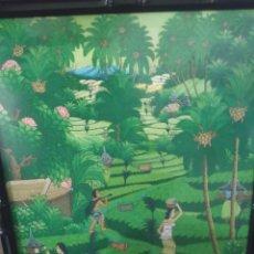 Arte: PINTURA ORIGINAL EN TELA FIRMADA ABUD BALI. Lote 220926260