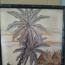 Arte: PRECIOSA PINTURA AFRICANA FIRMADA, AÑO 83. Lote 220928763