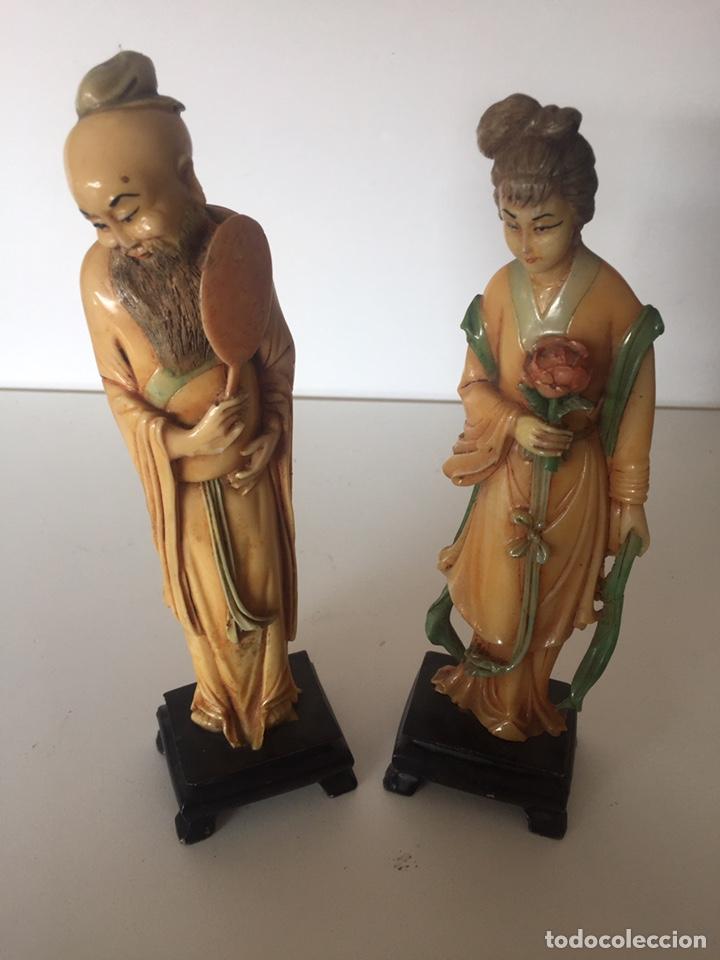 Arte: Antigua figuras orientales asiáticas - Foto 2 - 221513698