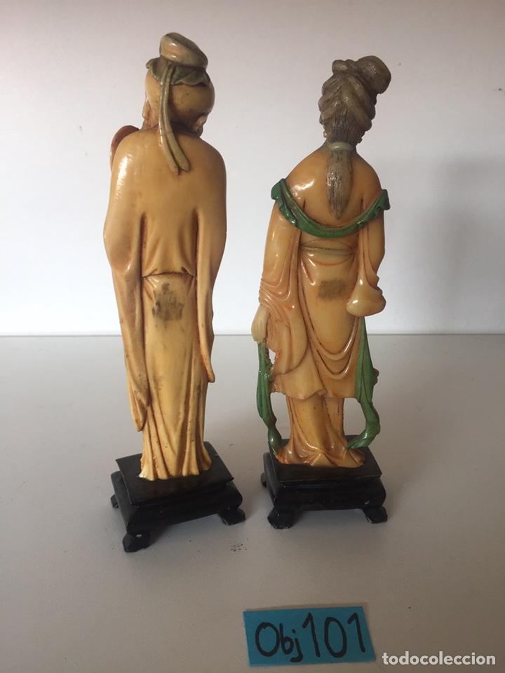 Arte: Antigua figuras orientales asiáticas - Foto 3 - 221513698
