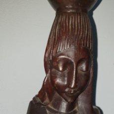 Arte: TALLA ETNICA AFRICANA REPRESENTACION VIRGEN CON NIÑO JESUS (CONGO). Lote 221519491