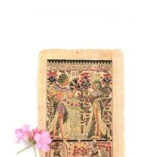 Arte: PAPIRO VINTAGE EGIPCIO ERÓTICO, ARTE EGIPCIO,FARAONES, FIRMADO. Lote 221930848