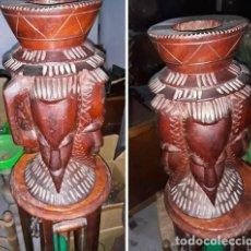 Arte: ESCULTURA TIPO JARRON AFRICANO.CON ASA. Lote 222031245