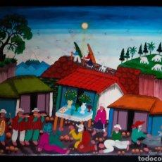 Arte: PINTURA INDÍGENA PERUANA DEL ARTISTA EDMUNDO CAVA. AÑOS 80.. Lote 222365160