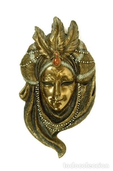Arte: Máscara Veneciana Collar de perlas. 32x18x5cm - Foto 2 - 222385027