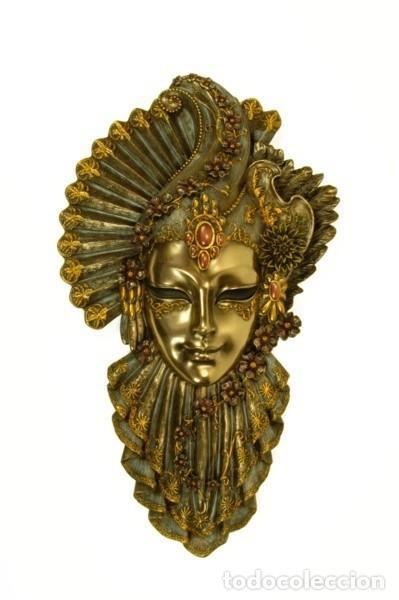 Arte: Máscara Veneciana. Flor. 32x19x5cm - Foto 2 - 222385280